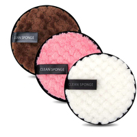 Almohadillas de fibra para quitar maquillaje, 3 uds., reutilizables, esponja de limpieza facial, paño, toalla cosmética