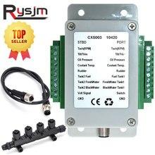 H כפול ערוץ NMEA2000 ממיר/N2K ממיר 0 190 אוהם עד 18 חיישנים W/מונית CX5003 + 0.5m כבל + מחבר מתאם