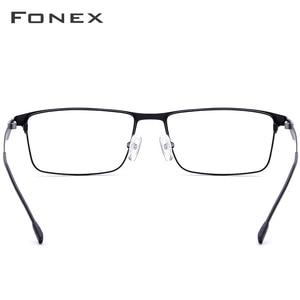 Image 5 - FONEX Alloy Glasses Frame Men Ultralight Square Myopia Prescription Eyeglasses Frames Metal Full Optical Screwless Eyewear