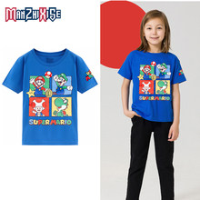 Vendita calda Best Numeri di Compleanno Di Vendita Ragazzi T-Shirt Mario Stampa di Cotone Scherza I Vestiti Del Ragazzo Magliette E Camicette Dei Bambini Del Partito di Abbigliamento Tee Camicette