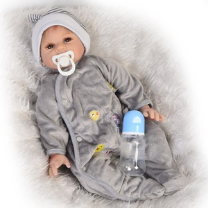 New 22 Inch Reborn Dolls 55 cm Silicone Soft Realistics Baby Doll Toy For Boy Gift For Kids Playmates