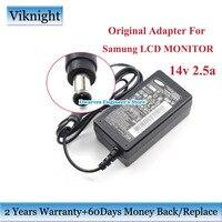 Genuíno 14 v 2.5a 35 w lcd monitor da tela adaptador de alimentação ca para samsung ls27d360 e227454 a3514 dhs a3514_dpn sa300 carregador do monitor monitor charger power adapter chargercharger 14v -
