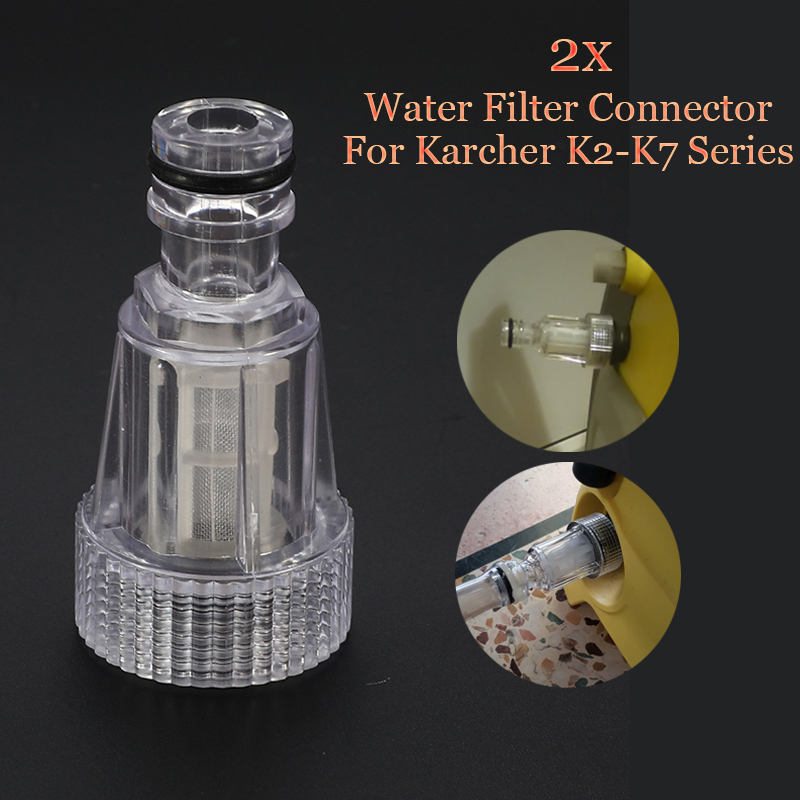 2pcs/lot Car Wash Machine Water Filter Nipple Connector Universal High Pressure Cleaning Accessories For Karcher K2-K7 Series