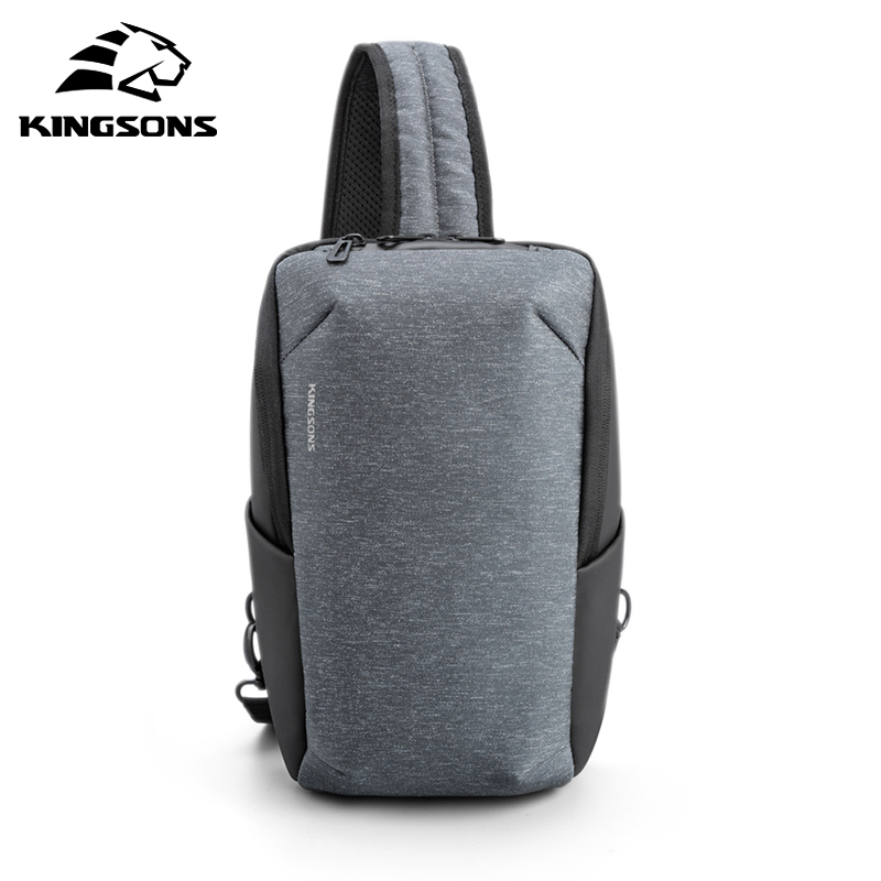 Kingsons 2020 New Style Fashion Tablet Travel Chest Bag Large Capacity Waterproof  Crossbody Bag For Teenagers And Male