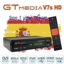 Spain DVB-S2 gtmedia V7 hd With USB WIFI FTA TV Receiver freesat v7s hd by freesat Support Europe Spain cline Network Sharing tv