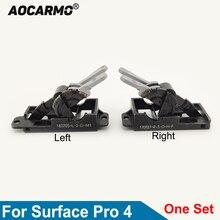 Aocarmo עבור Surface של מיקרוסופט Pro 4 Pro4 1724 ציר Kickstand שמאל ימין w/ציר מחבר פיר החלפת חלק