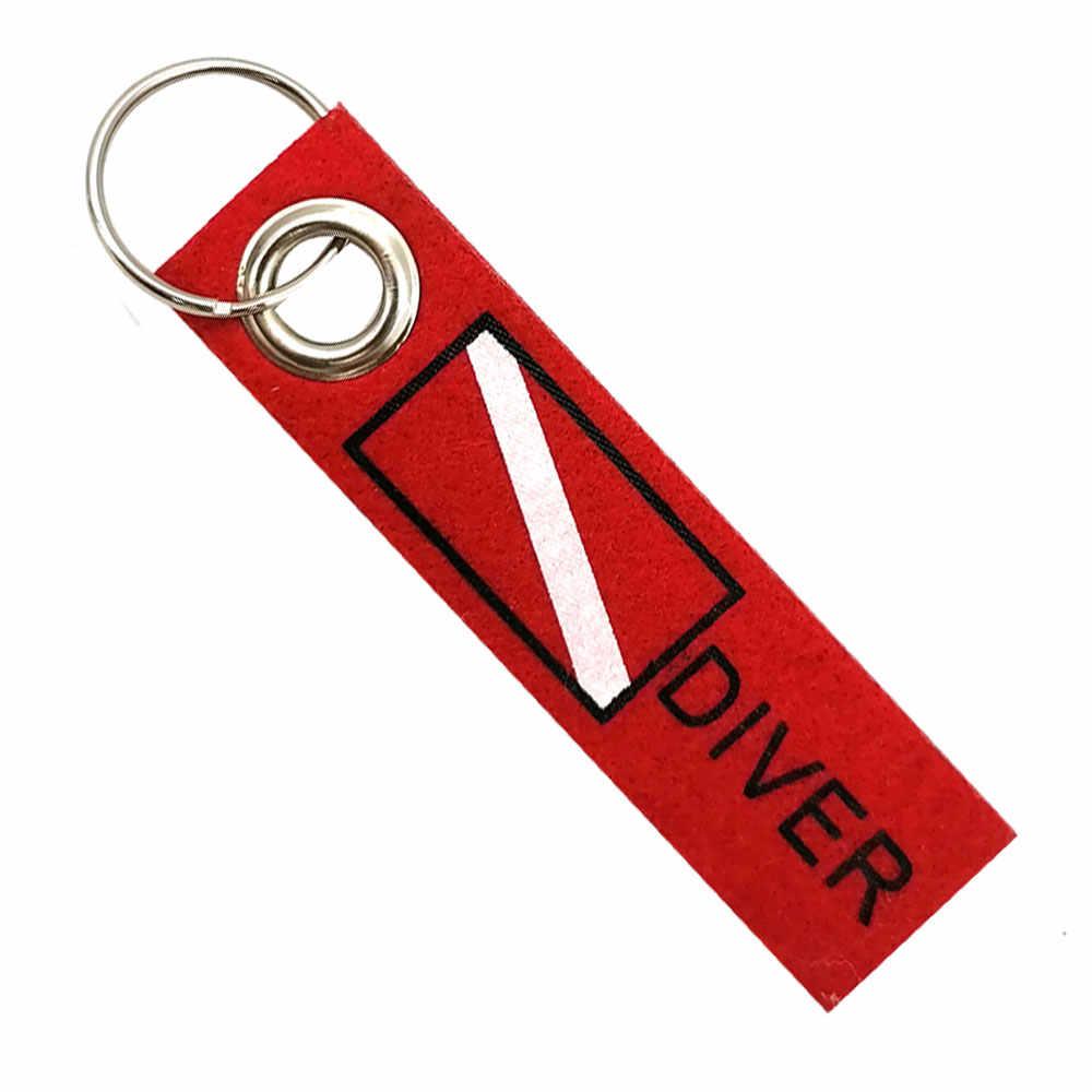 Diver Bag Bagage Tag Met Sleutelring Sleutelhangers Reizen Duiken Rugzak Tas Vlag Sleutelring