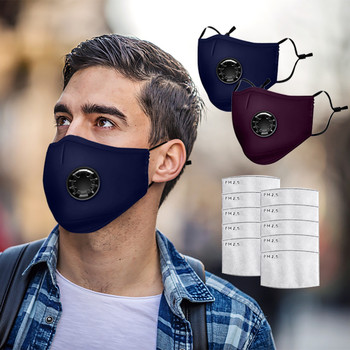 Reusable Mask for face With Filter Adult 3pcs Mask +10 Filter Chip Reusable Dust Mask Pm2.5 Wind And Smog Pollution Mascarillas image