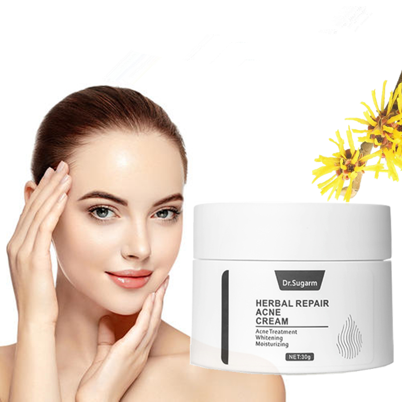 Dr.Sugarm Herbal Repair Acne Face Cream Skin Care Acne Treatmnet Whitening Moisturizing Shrink Pores Plant Extract Day Cream 30g