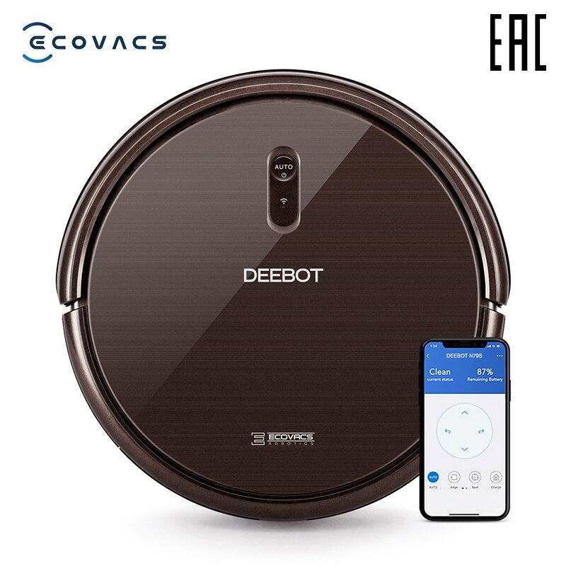 Ecovacs deebot n79s robô aspirador de pó com potência máxima de sucção com suporte wi-fi e controle do smartphone
