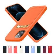 Saco de cartão original silicone macio caso do telefone de luxo para o iphone 11 12 pro max mini 7 8 plus xr x xs à prova de choque caso protetor capa
