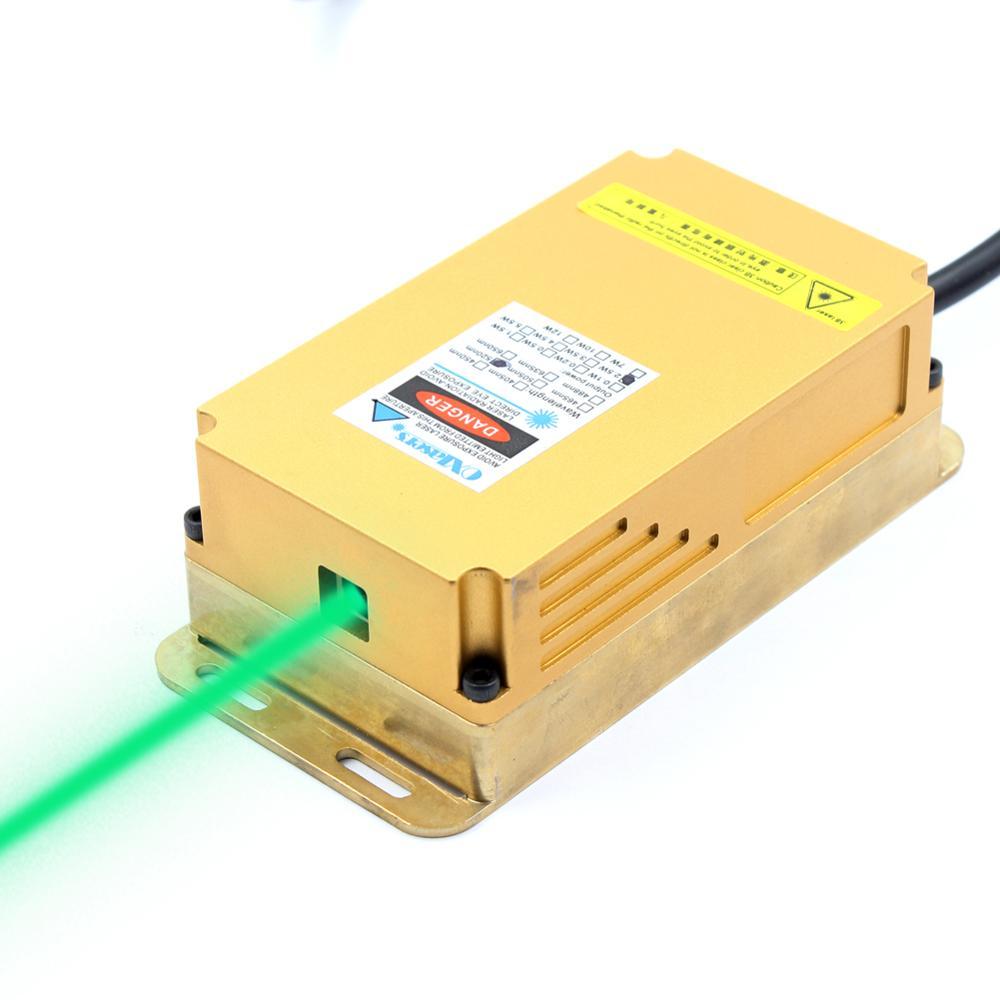 Oxлазеры 2 Вт 520нм 530нм зеленый лазерный модуль высокой мощности лазерный сценический светильник 2000 МВт 12 в ttl зеленый лазер отпугивающий