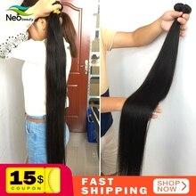 """8 """" 28"""" 30 32 34 36 38 40 дюймов 1/3/4 прямые волосы пряди в наличии 10A человеческие волосы прямые девственные бразильские волосы плетение пряди"""