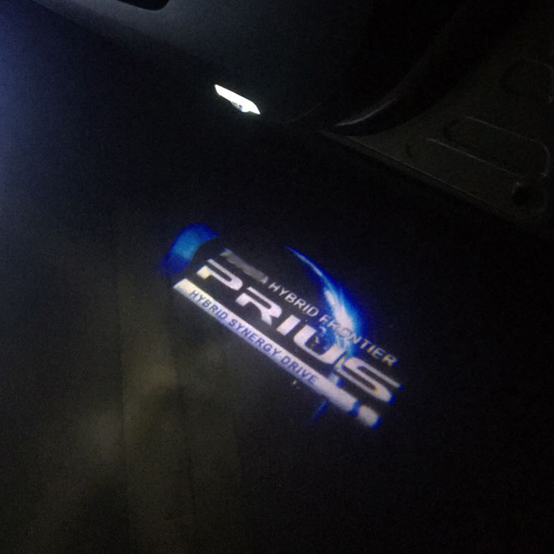 4pcs Car Welcome Light For Prius LED Luces Emblem Logo Projector Lamps Auto Car Door Lights Ghost Atmosphere Decor Light Gadgets