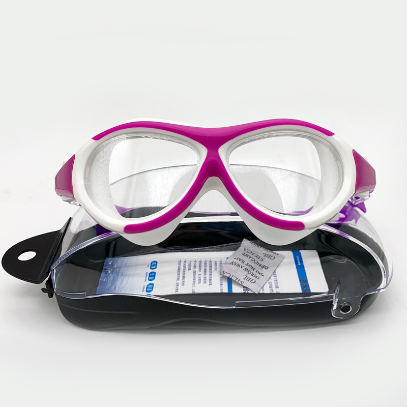 CHILDREN'S Swimming Goggles Big Box BOY'S Girls Glasses Waterproof Anti-fog High-definition Swimming Profession Coatings Diving