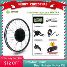 Hub-Motor Conversion-Kit Electric-Bicycle-Wheel Road-Bike 500W 48V SCHUCK with 16-29inch