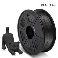 AW filamento per stampante 3D PLA 1kg 1.75mm diametro tolleranza/-0.02mm colore nero 100% nessuna bolla materiale di stampa ecologico