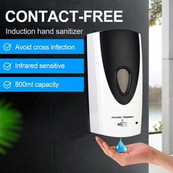 Liquid Soap Dispenser 800Ml Automatic Smart Sensor Touchless ABS Electroplated Sanitizer Dispensador Bottle for Kitchen Bathroom gojo 962112 bag in box hand sanitizer dispenser 800ml 5 5 8w x 5 1 8d x 11h we