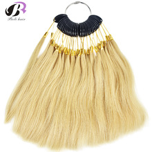 30pcs 7cm Human Virgin Hair Color Ring For Hair Extensions and Salon Hair Dyeing Sample Dye Any Color Color Chart Swatch Rings