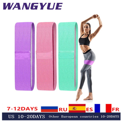 Durable Pull Band Hip Circle Bands Yoga Anti-slip Gym Fitness Resistance Band Exercises Braided Elastic Hip Lifting Rubber Band