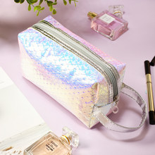 Beautybigbang Unicorn Tas Kosmetik Mermaid Makeup Tas Portable Kantong Kuku Seni Alat Pemegang Tas Makeup Case(China)