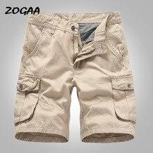 ZOGAA Cargo шорты мужские 2020 новинка мужские повседневные хлопковые шорты мужские свободные рабочие шорты мужские военные шорты брюки