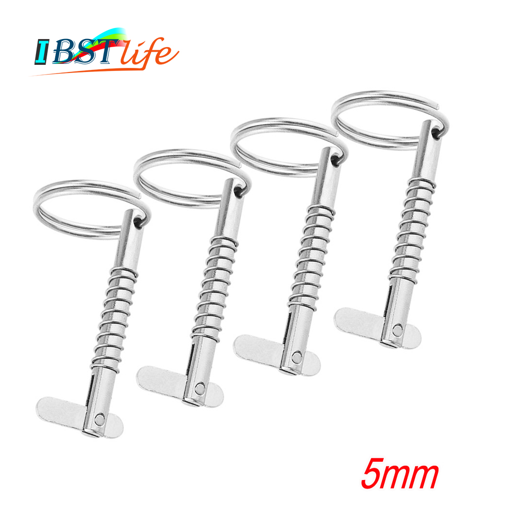 4PCS 5mm BSET MATEL Marine Grade 316 Stainless Steel Quick Release Pin For Boat Bimini Top Deck Hinge Marine Hardware Boat