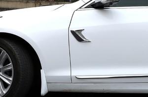 Image 5 - 2 stücke Auto Seite Vent Simulation Hai Kiemen Aufkleber Dekorative Für Hyundai IX35 IX45 Sonata Verna Solaris Elantra Tucson Mistra