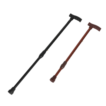 Telescoping Staff Outdoor Rod Aluminium Alloy Stick Straight Handle Telescopic Ultra-Light Crutches Old Alpenstock anxiaokang safe reliable old man crutches non slip old man s stick telescopic four legged cane walking stick tips for elderly