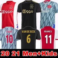 Homens ajaxes crianças jogo de camisas de jong dolberg ziyec homem 2020 2021 jogador de roupas tadc chagar 3rd 20 21 ajaxs adulto c