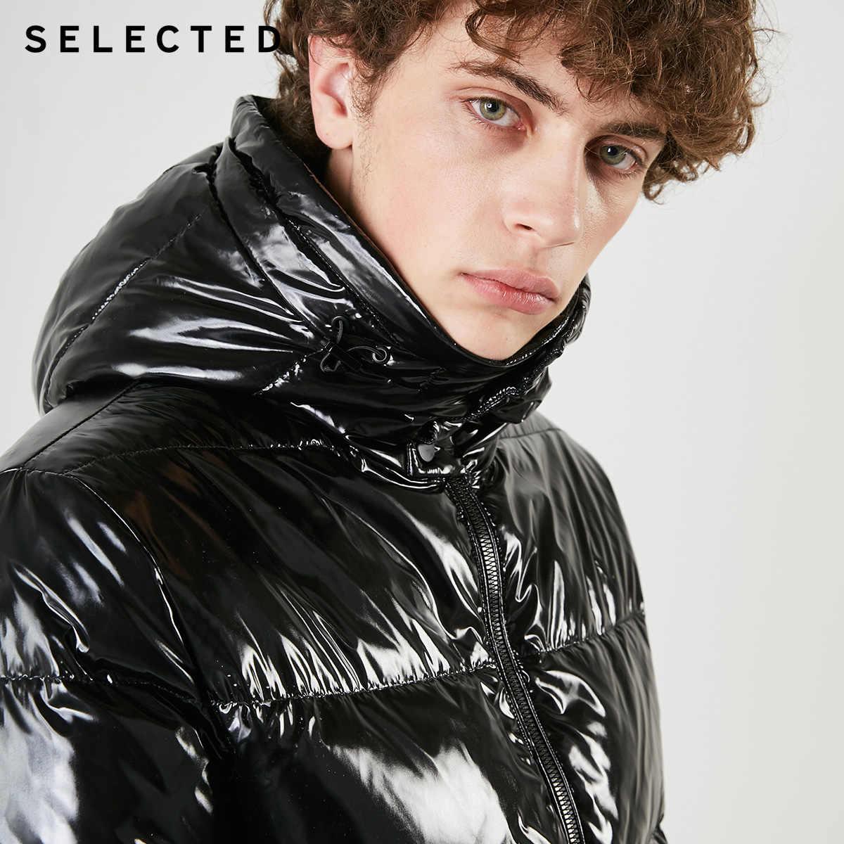נבחר גברים של מבריק למטה קצר מעיל סלעית Parka ברווז למטה מעיל החורף מזדמן זכר בגדי C | 419112507