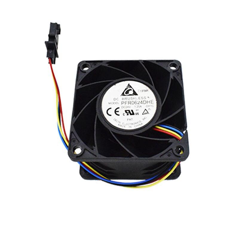 Free Shipping  PFR0624DHE -DH1C DC 24V 1.20A 60x60x38mm 4-Wire Server Cooler Fan