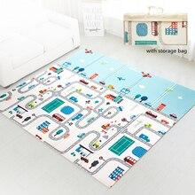 Складной Водонепроницаемый многофункциональный напольный коврик для младенцев двухсторонний портативный детский игровой коврик для полз...