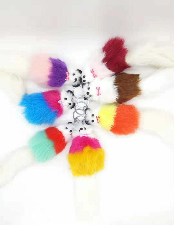 Key-Ring Pendant Fox-Doll New Bag Hair-Like Korean-Version Explosive Wholesale