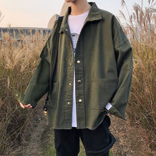 Harbour wind jeans jacket Men Chao brand loose handsome spring and autumn BF harbour style couple jeans jacket(China)