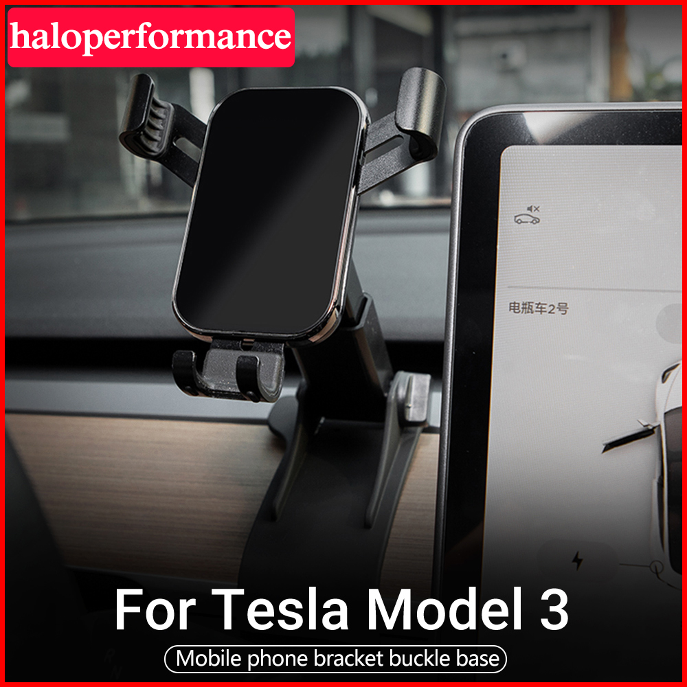 For Tesla Model Three Phone Holder Car Air Vent Gravity Design Holder Mount Cradle Stand for Mobile Phone Model 3 Accessor 2020