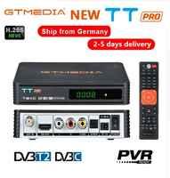 GTMEDIA TT PRO DVB-T2/T Terrestrial TV Receiver HD Digital TV Tuner Receptor MPEG4 DVB T2 H.265 DVB-C TV BOX+1 year CCCAM 5lines