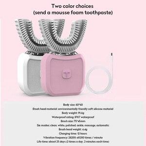 Image 5 - 新 U 型音波電動歯ブラシ USB 充電怠惰な自動歯ブラシ 360 度ホワイトニングクリーニングツールブラシ口腔ケア