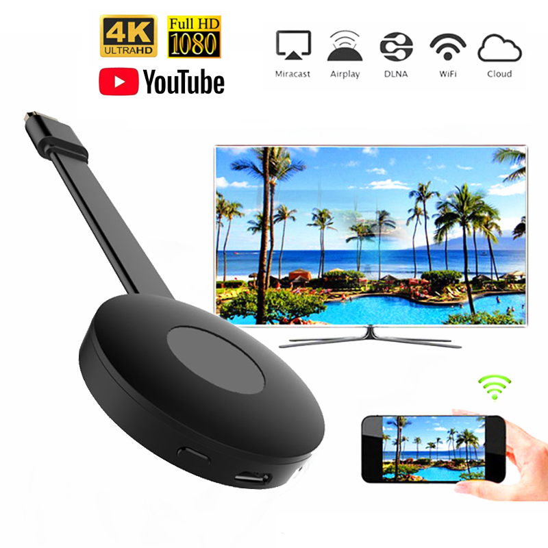 Wireless Display Dongle WIFI Portable Display Receiver 1080P HDMI Miracast Dongle for iOS iPhone iPa