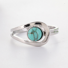 Green Stone Rings for Women Retro Jewelry Antique Silver Color Ring Accessories Ring Bague Femme Anillos Mujer Wholesale O5J433 kcaloe lady women green stones ring charm brand jewelry antique black rhinestone natural stone wedding anniversary rings anillos