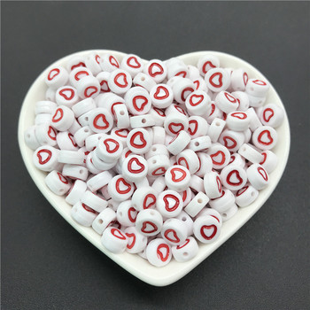 100pcs/lot 4x7mm Acrylic Spacer Beads Letter Beads Oval Alphabet Beads For Jewelry Making DIY Handmade Accessories 13