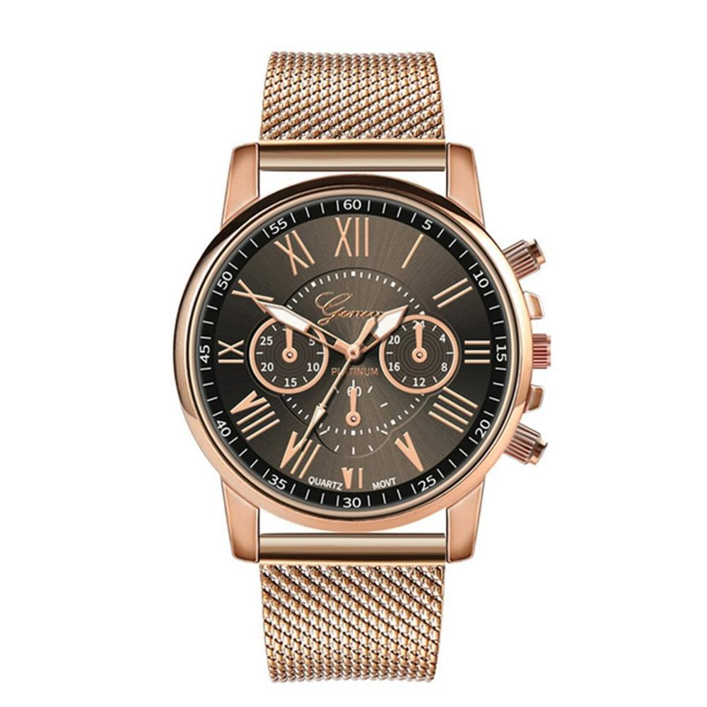 Personality Gold Net Stainless Steel Watch Distinguished Luxury Casual Quartz Watch Men'S And Women'S Watches