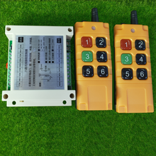 Interruptor de luz LED con Control remoto inalámbrico, TRANSMISOR DE RF de Radio de salida y receptor de 500 MHz, DC12V, 24V, 6 CANALES, 2000-315/433 m