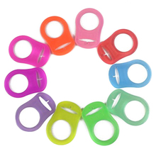 Pacifier Clips Mix Color Holder 10pcs Soft Adapter Ring Non-toxic Supplies Supplement Teeth Toy Baby Silicone
