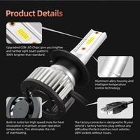 2pcs F2A-LED H7 40W 4000LM Car Haedlight H4 H7 H1 LED H8 H9 H11 3000K 6000K 6500K 8000K 25000K Auto Fog Light 3