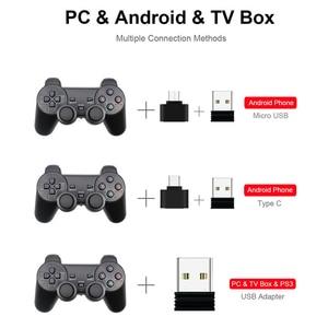 Image 3 - אלחוטי Gamepad PC עבור PS3 אנדרואיד טלפון טלוויזיה תיבת 2.4G Wireless ג ויסטיק Joypad משחק בקר מרחוק עבור Xiaomi OTG חכם טלפון