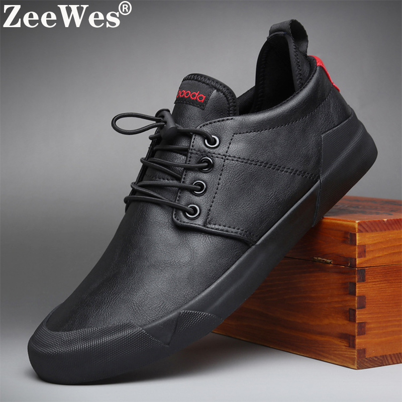 2019Spring Autumn New Hot Fashion Men Lace-up Leather Casual Shoes Trend Shoe Cool Loafers Flats Designer Shoes Men High Quality
