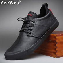 цена на 2019Spring Autumn New Hot Fashion Men Lace-up Leather Casual Shoes Trend Shoe Cool Loafers Flats Designer Shoes Men High Quality
