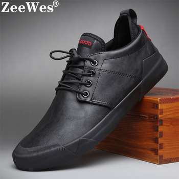 2020Spring Autumn New Hot Fashion Men Lace-up Leather Casual Shoes Trend Shoe Cool Loafers Flats Designer Shoes Men High Quality cbjsho 2017 quality men shoes leather fashion british style men s loafers casual autumn lace up flat patchwork casual shoes male