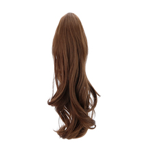Free Beauty 18 Synthetic Claw Clip In Ponytail Hair Extensions Auburn Wavy Fake Pony Tail Extension Drawstring Wrap Around mix auburn clip in straight hair extension 3pcs
